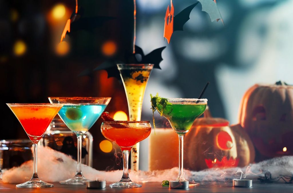 Halloween Cocktails at Whirlowbrook Hall Hotel